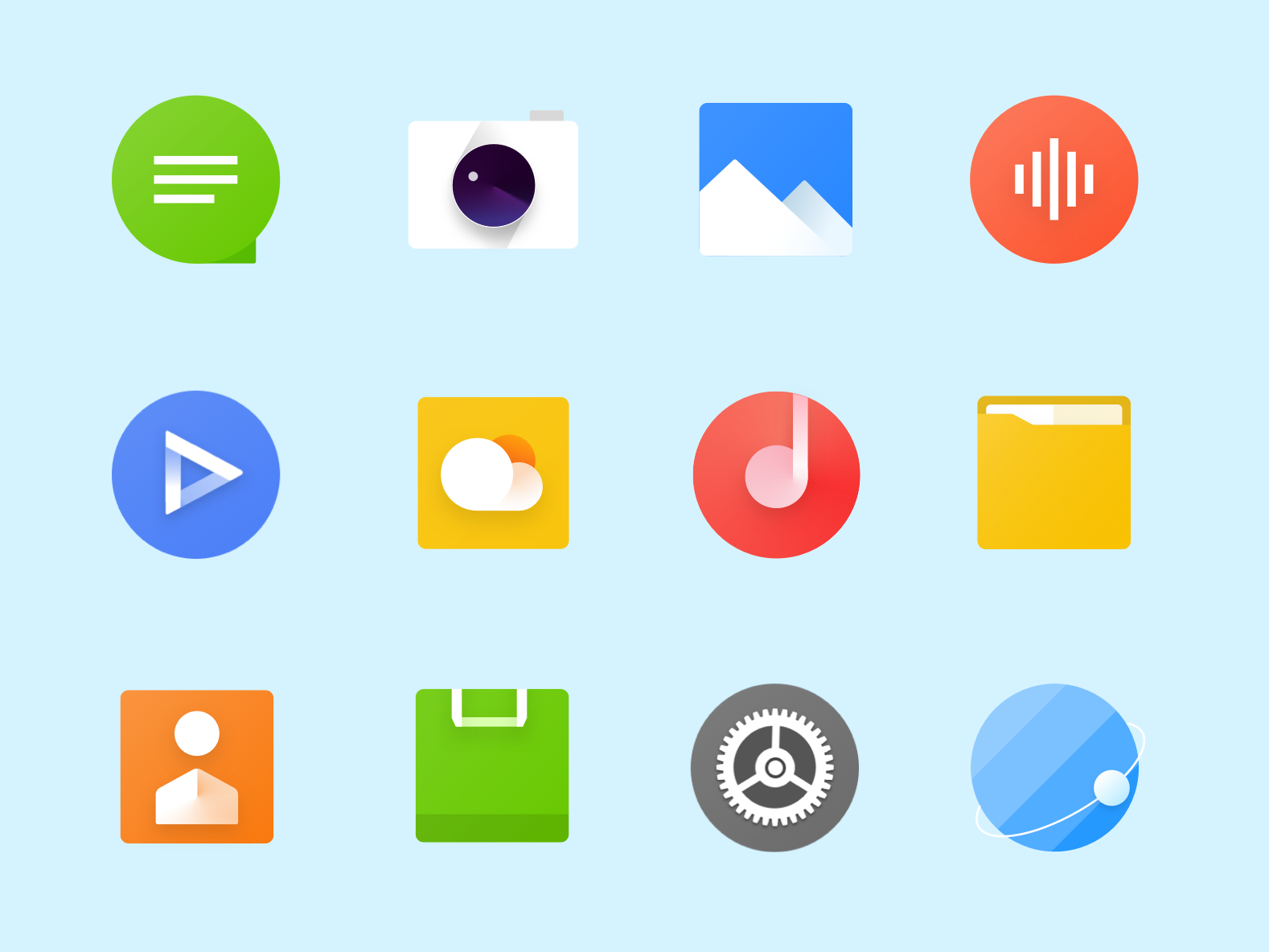 Icon Design 扁平 color 几何 clean icon 设计