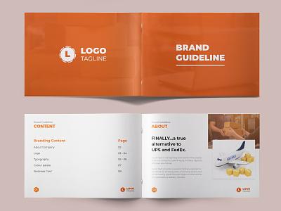 Brand Identity Design logo design clean corporate creative black and white orage company profile brand guideline branding