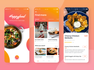 Happyfood App Design