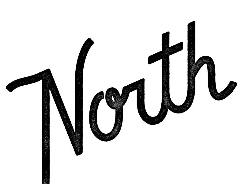North Stamp stamp script lettering type