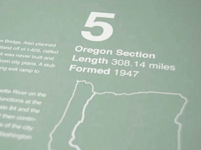 Interstate Info Posters posters color oregon