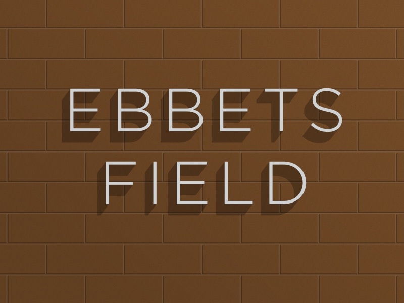 Ebbets Field font type brooklyn ebbets baseball