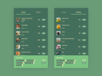 Figma #DailyUI #043 Food\Drink Menu