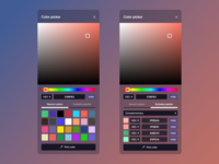 Figma #DailyUI #060 Color Picker