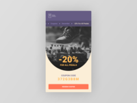 Figma #DailyUI #061 Redeem Coupon