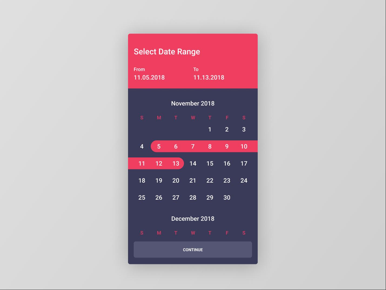 Figma #DailyUI #080 Date Picker calendar date picker flat app concept app interface design ux ui dailyui figma