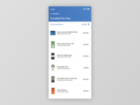 Figma #DailyUI #091 Curated For You