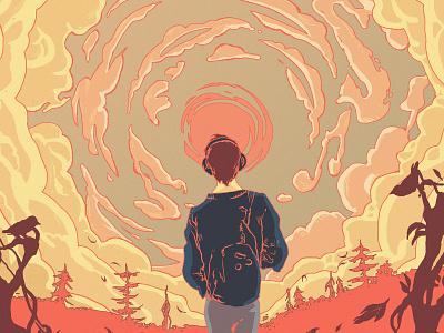 Artwork for an album album artwork vinyl cover illustration art print cover design vector character illustration scene