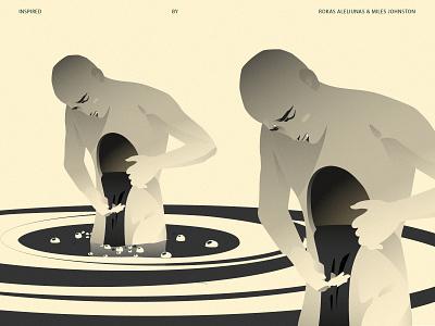 The gap poster illustration art print ad design vector character illustration scene