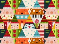 Merry Dribbble Pattern