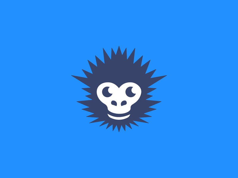 Flat Smiling Monkey Logo