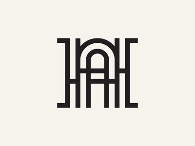 HA Monogram logo brand vector logo creative modern simple minimalist blackandwhite linestyle lines letterh lettera halogo lettermarklogo monogram logo lettermark monogram