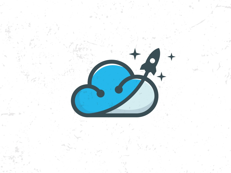 Flat cloud logo