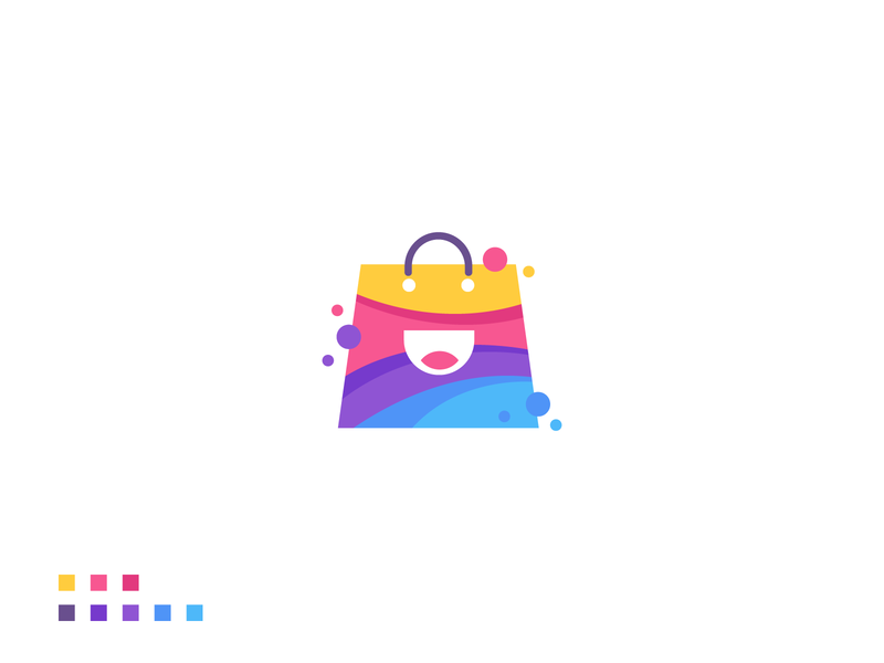 Creative Shopping Bag Logo