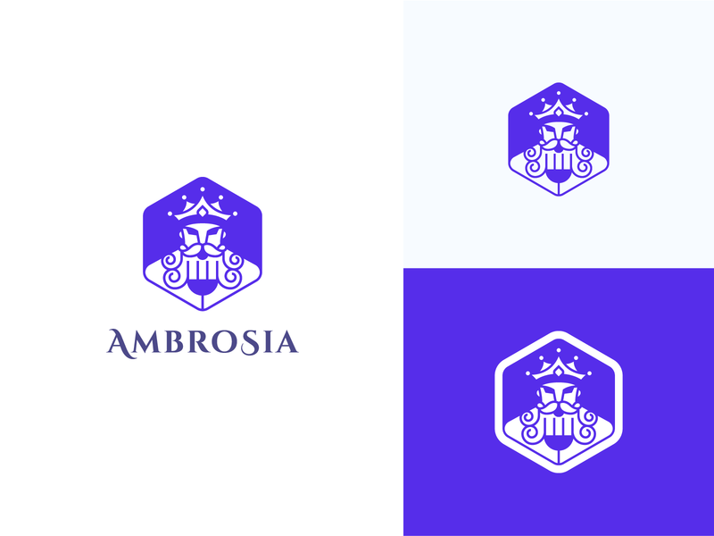 Ambrosia Food of Greek Gods Logo