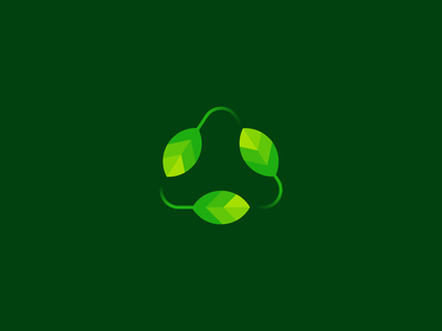 Recycle Leaf Logo Design graphic creative brand flat modern minimal illustration logoinspiration logodesigner logodesign logotype logo nature leaf triangle green recycle