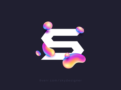 Logo promotion skydesigner typography branding logos design vector logotype logoidea fiverr work freelancer modern creative fluid letter s promotion logo