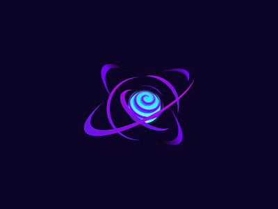 Orbit Logo Design creative logoinspiration logotype logodesigner logodesign logo illustration brand design modernlogo orbit planet star space blue purple