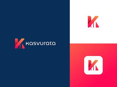 Letter K Monogram Logo Design typogaphy illustration branding creative logo graphicdesign modern minimal logodesign logo lettermark k logo letterk chart invest