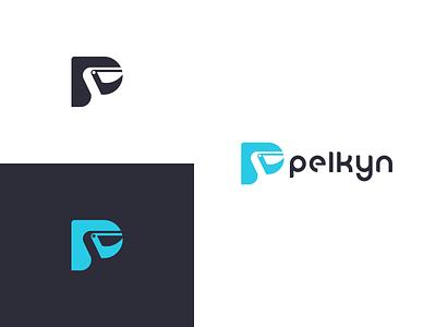 Pelkyn Logo Design creative logo modern minimal simple negativespace letterp lettermark animal logo animal bird pelican design logodesign logo