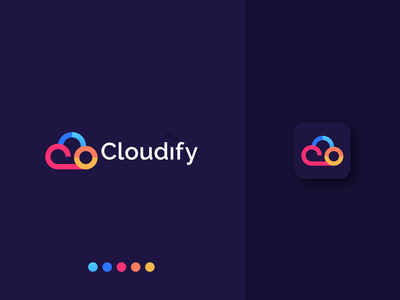 Cloudify Logo Design creative logodesigner sky brand design illustration logoinspiration creative logo modern logodesign logo clouds colorful digital cloud