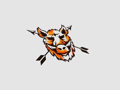 BoarCandy Logo Design creative logo logodesign wild animal branding animal illustration logo hog pig wild arrow hunter hunting boar