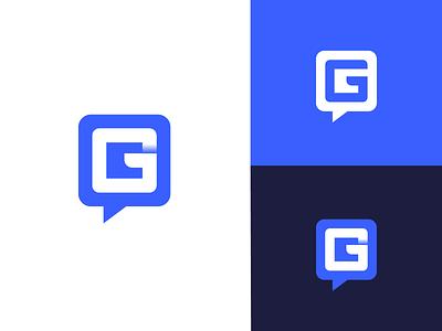 Chat Bubble Logo Design illustration logodesigner logo logodesign branding logomark chat communication blog chatbubble conversation