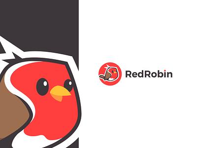 Red Robin Logo Design logodesign logo brand illustration creative chubby cute sweet animal logo animal bird logo wings bird