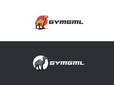 GYMGML Logo Design design creative typography branding illustration logodesign logo sun desert camel animallogo animal