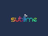 Sublime typography logo