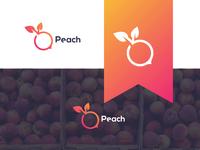 Peach simple logo design