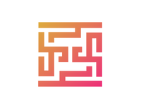 FF maze logo design
