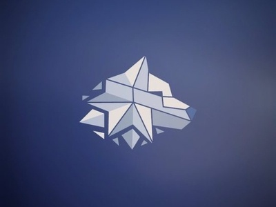 Wolf Head Creative low poly logo