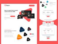Creative Red Website design for Flixon by Bojan Sandic