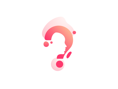 Creative questionnaire logo design brand design brand logodesign logo creative clean flatdesign modern think questions gradient smart quiz question mark question questionnaire