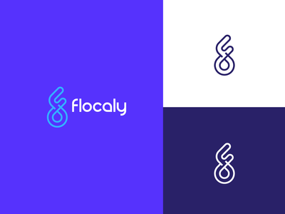 Flocaly - Location Pin with initial letter F logo