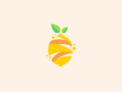 Lemon Fruit modern logo design