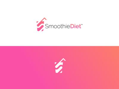 Healthy Smoothie Diet Monogram Logo Design
