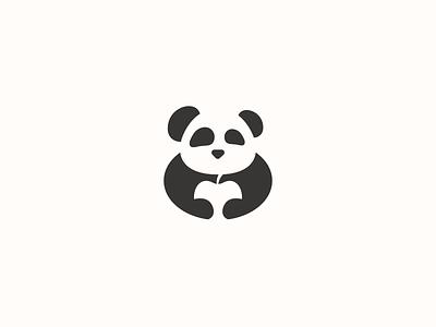 Minimal Panda Logo Design logo flat simple logo blackandwhite negativespace minimal nature natural fruit apples apple bears bear animals animal panda bear panda logo pandas