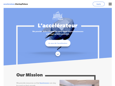Landing page design WIP lowpoly 3d onepage uiux webdesign