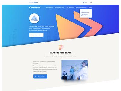 Accelerateur Startup Palace Final graphic-design webdesign ui-design uiux onepage