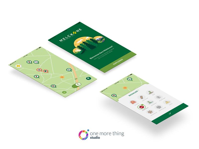 Melckone app: spring is coming 🍀 apple walk outdoor forest ux design ui design ux mobile app design ui illustration