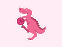 Dribbblosaurus Rex - StickerMule Playoff!