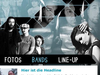 Festival Website festival layout website menu