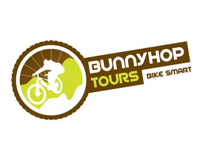 Bunnyhop Tours Logo logo mtb bike design