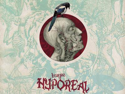Hyporeal collage composing illustration cover artwork brayaz