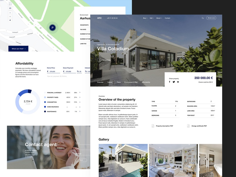 ARX Real Estate Website rental business real estate ux ui website web design