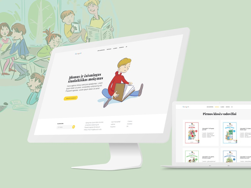 Textbooks for School Children children school education web design illustration wordpress website ux ui