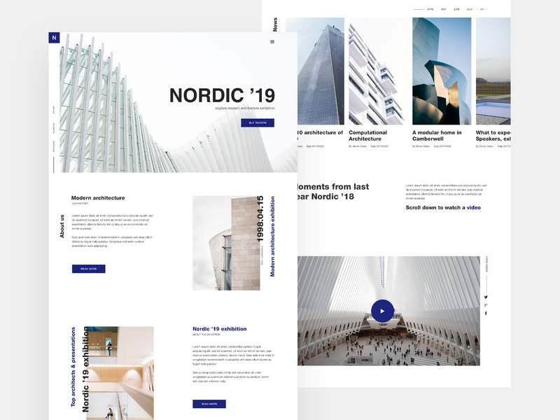 Nordic fair website event architecture web layout minimal ux ui website web design