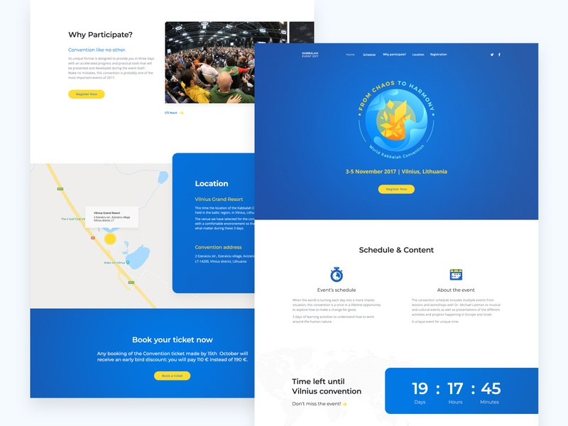 From Chaos to Harmony landing page illustration convention web design website ui ux landing page layout web event